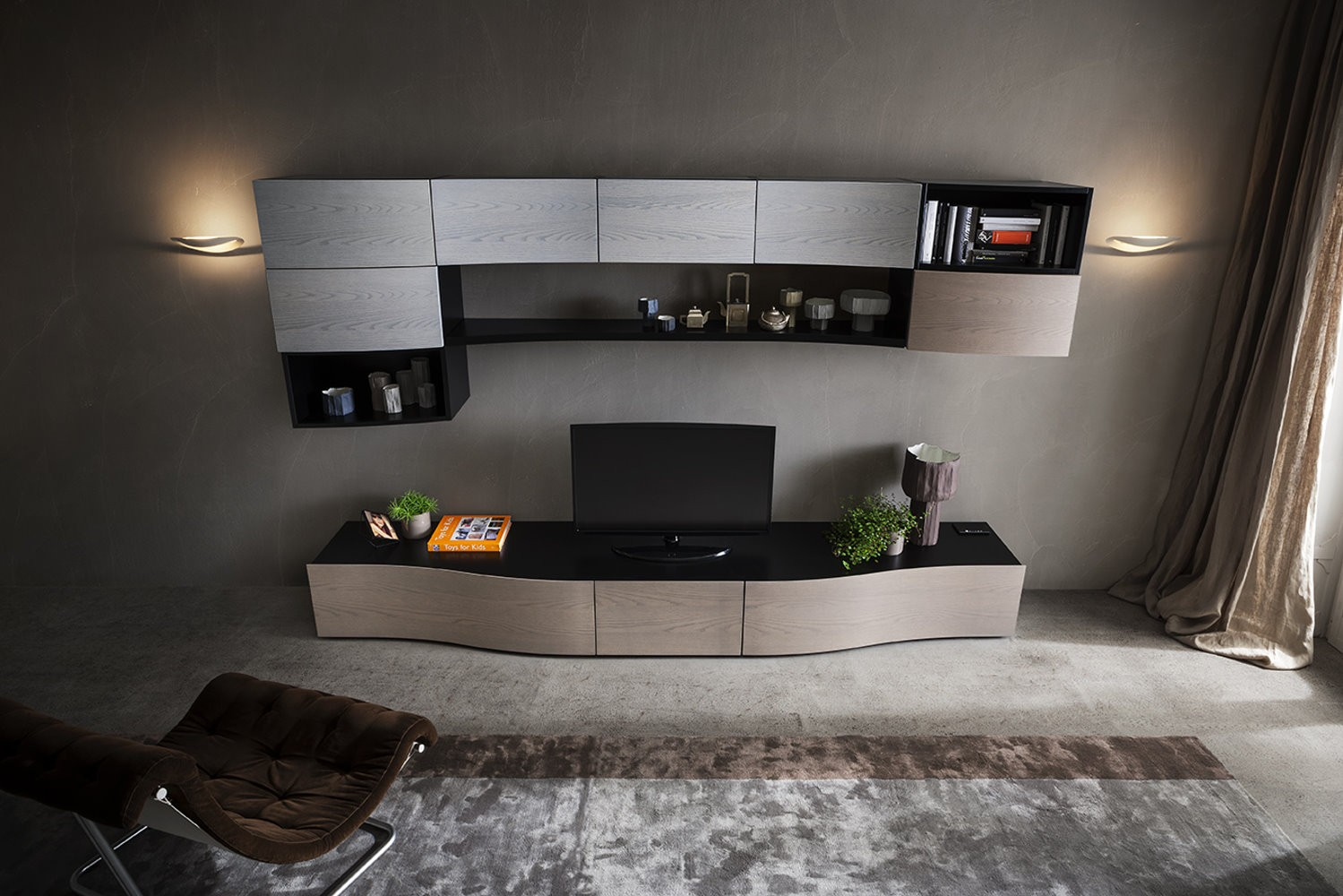 Marcam interni italiani arredamenti mobili cucine for Soggiorno moderno elegante